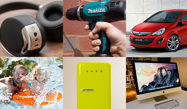 Win a £15k prize bundle including a car, apple gadgets and Family Holidays!